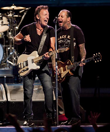 Video: Social D's Mike Ness joins Bruce Springsteen for 'Bad Luck'