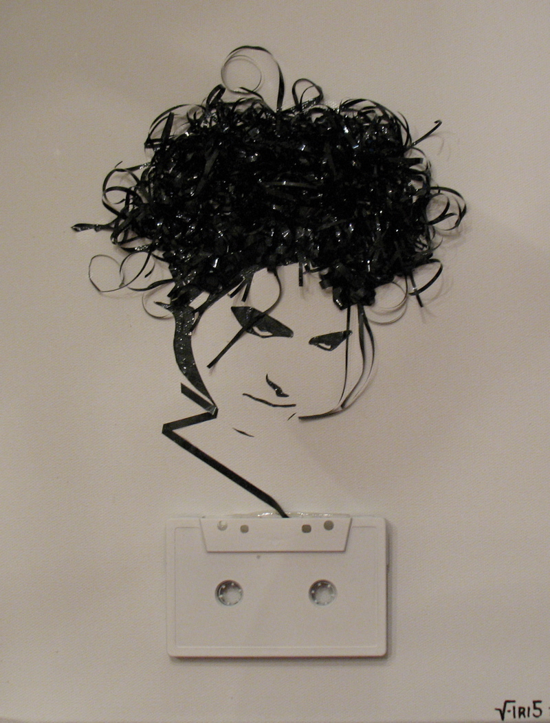 Cassette art: Turning old tapes into Robert Smith, Ian Curtis, Ian Brown