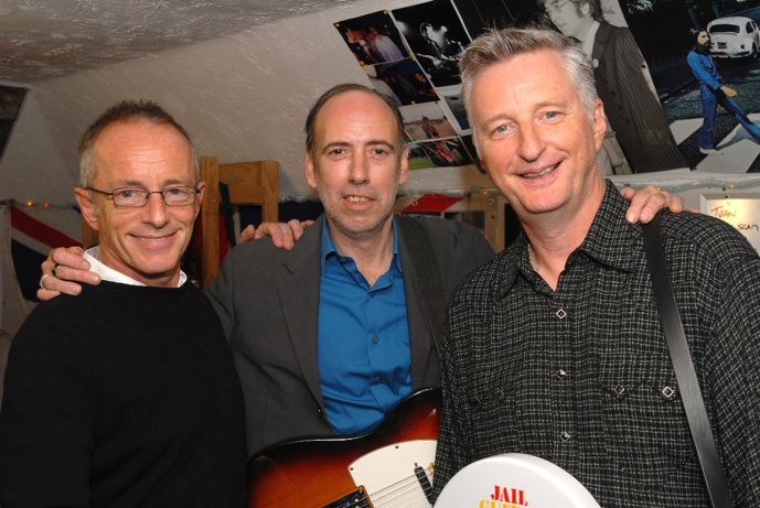 Topper Headon, Mick Jones and Billy Bragg