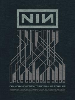Nine Inch Nails 'Wave Goodbye 2009' tour poster