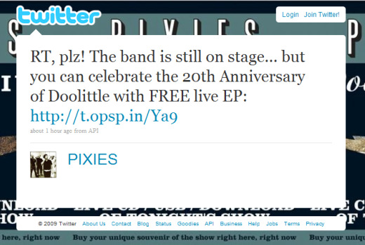 Pixies on Twitter