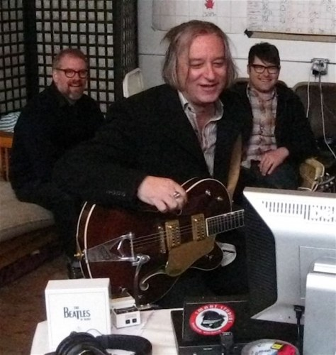 R.E.M.'s Peter Buck in the studio with The Decemberists
