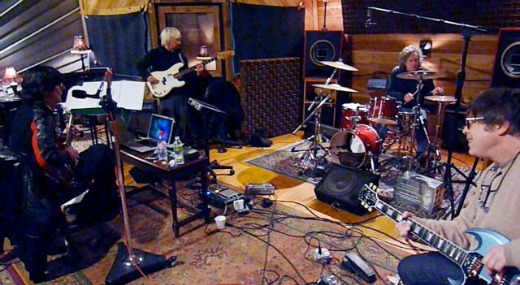 The Cars in the studio, circa 2010