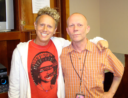 Martin Gore and Vince Clarke, circa 2007