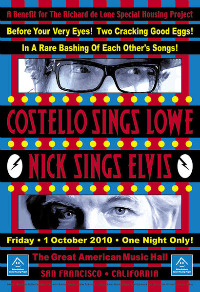 Video: Elvis Costello and Nick Lowe play '(What's So Funny 'Bout) Peace, Love and Understanding?' in San Francisco