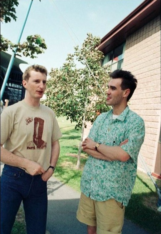 Billy Bragg and Morrissey, circa 1985