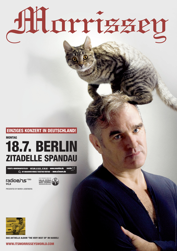 Morrissey's summer tour continues to grow; eight more concerts added in Europe