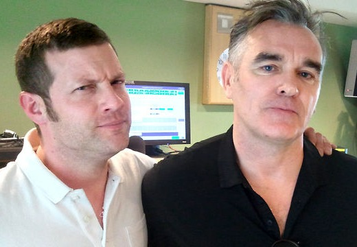 Morrissey and Dermot O'Leary at the BBC