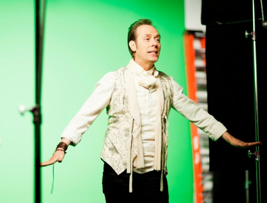 Peter Murphy on the set of 'I Spit Roses' video