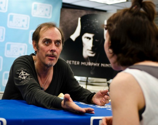 Peter Murphy @ J&R Music World; photo by Kellyann Petry