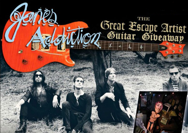 Contest: Win a Jane's Addiction 'The Great Escape Artist' signed guitar — and new CD