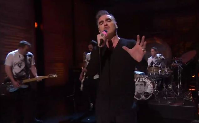 Video: Morrissey performs 'People Are The Same Everywhere' on TBS' 'Conan'