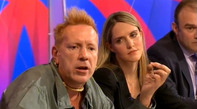 Video: PiL's John Lydon discusses the war on drugs on BBC's 'Question Time'