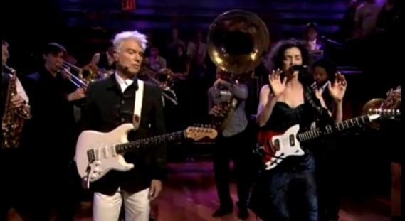Video: David Byrne and St. Vincent play 'Who,' 'The Forest Awakes' on Jimmy Fallon