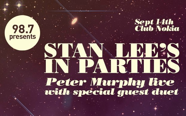 Peter Murphy to play 'Stan Lee's in Parties' Comikaze kick-off show in L.A. on Friday