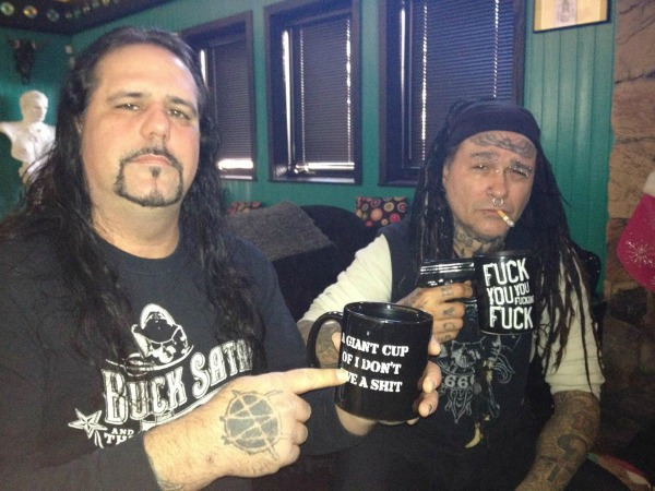 From left, Mike Scaccia and Al Jourgensen
