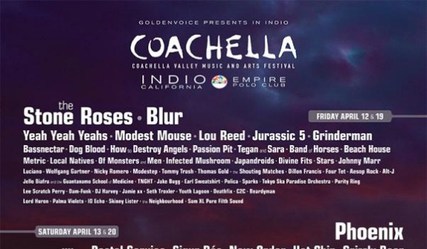 Coachella 2013: The Stone Roses, New Order, OMD, Nick Cave, Johnny Marr, Blur and more