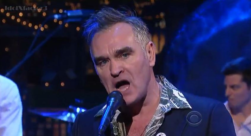 Video: Morrissey sings 'Action Is My Middle Name' on 'Late Show with David Lettterman'