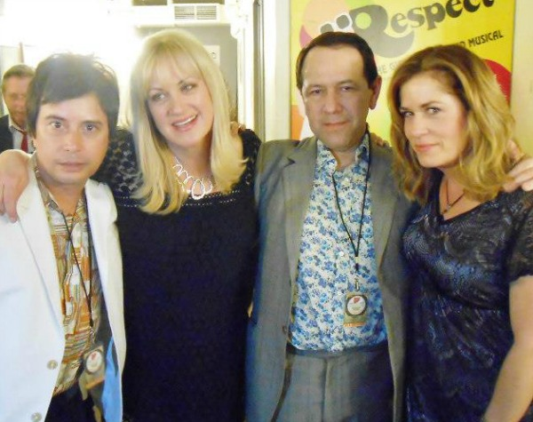 The Three O'Clock's Michael Quercio and Danny Benair with Debbi and Vicki Peterson of The Bangles