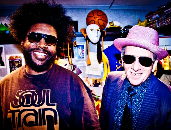 Elvis Costello and Questlove of The Roots
