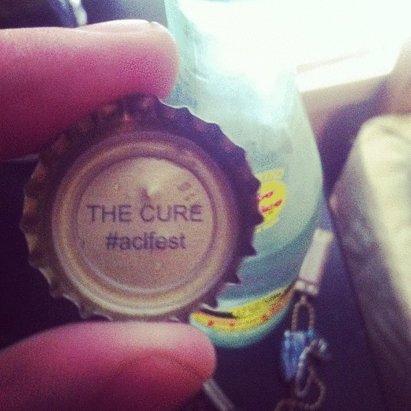 The Cure bottle cap