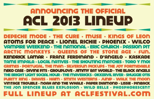 acl lineup