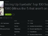Playlist: Slicing Up Eyeballs' Top 100 Songs of 1980 (Minus the 5 not on Spotify)