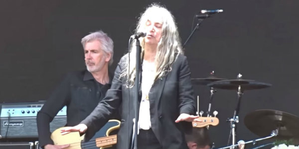 Watch: Patti Smith preaches eco-justice with cover of Midnight Oil's 'Beds Are Burning'