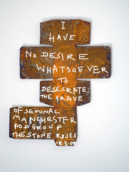 Through his art, John Squire firmly denies reports of a Stone Roses reunion