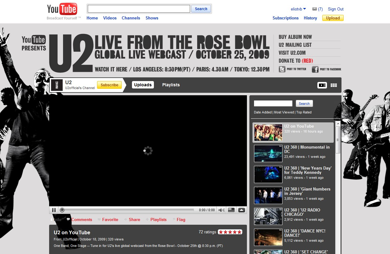U2's Rose Bowl concert to be streamed live on YouTube worldwide Sunday — for free