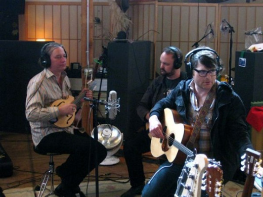 Photos: R.E.M.'s Peter Buck in the studio with Colin Meloy and The Decemberists