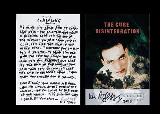 The Cure's Robert Smith donates handwritten 'Plainsong' lyrics to U.K. charity auciton