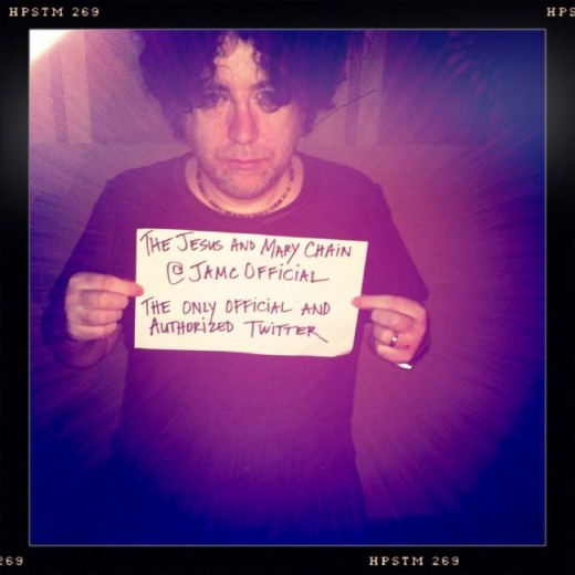 Photo: Jesus and Mary Chain's William Reid stakes his Twitter claim with pen, paper