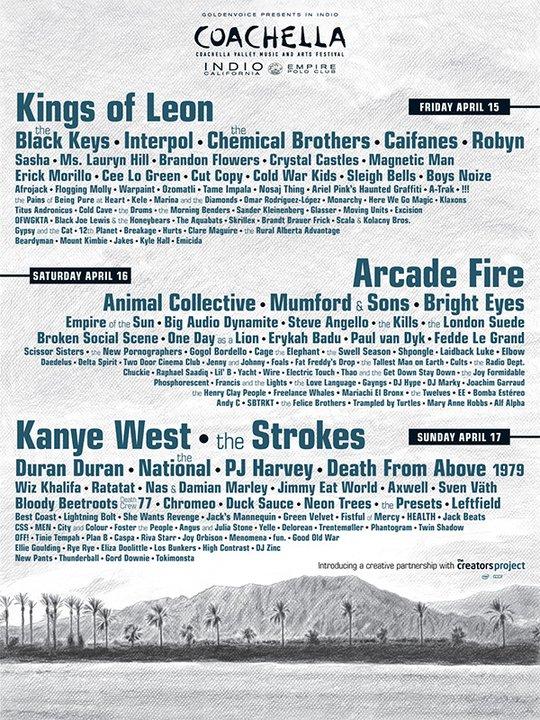 Coachella 2011: Duran Duran, Wire, Suede and reunited Big Audio Dynamite set for festival