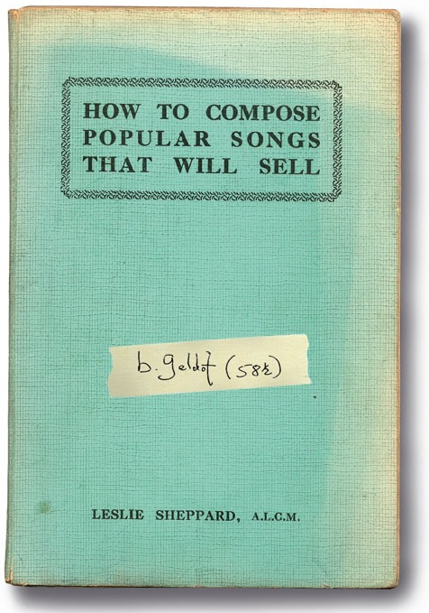 Contest: Win copy of Bob Geldof's 'How to Compose Popular Songs That Will Sell'