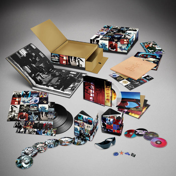 U2's 'Achtung Baby' box set: 6 CDs, 4 DVDs, 2 LPs, 5 7-inches — and Bono's fly shades