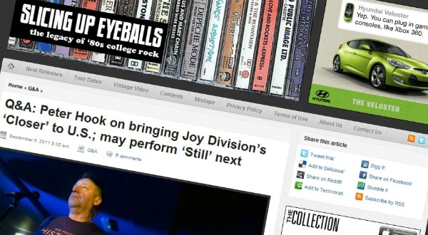 Slicing Up Eyeballs' most-clicked of 2011: Nirvana, U2, The Smiths, Pixies, The Cure