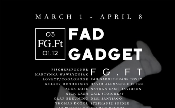 Fad Gadget and Frank Tovey to be honored with month-long FG.Ft tribute in New York