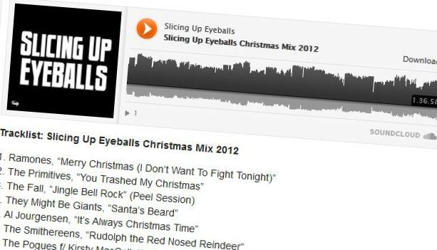 Download: Slicing Up Eyeballs Christmas Mix 2012 — 97 minutes of holiday cheer